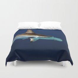Hammerhead Shark (Color) Duvet Cover