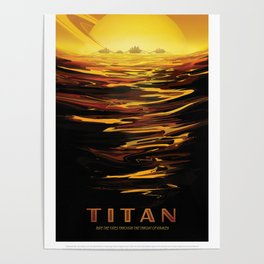 NASA Visions of the Future - Titan: Ride the tides through the throat of Kraken Poster