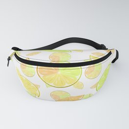 Abstract pattern with slices of citrus fruit . Fanny Pack
