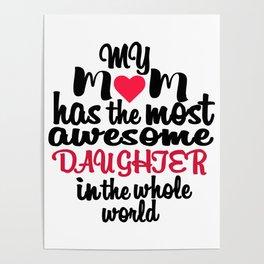 Mom & Daughter Poster