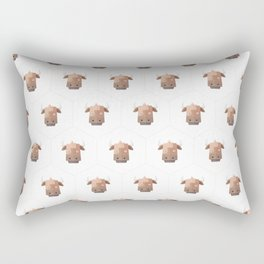 Hexagon's Cow design Rectangular Pillow