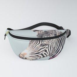 Zebra Blue Fanny Pack