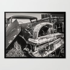 Dead cars series - in black and white #1 Canvas Print