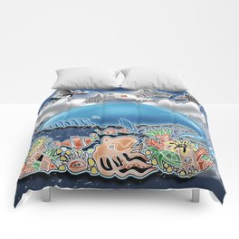 the blue whale Comforters