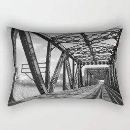 Train Bridge 3 - B&W Rectangular Pillow
