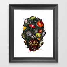 Heads of the Living Dead Zombies: Eye of Balls Zombie Framed Art Print