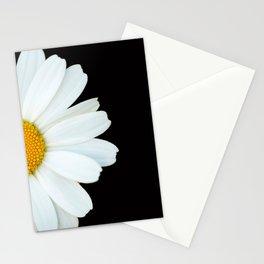 Hello Daisy - White Flower Black Background #decor #society6 #buyart Stationery Cards