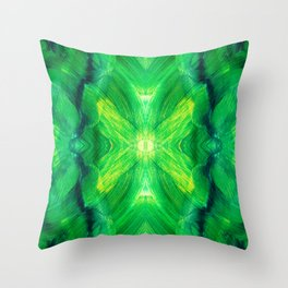 Brush play in hues of green 13 Throw Pillow