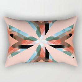 Three Triangles Geometric in Coral Rectangular Pillow