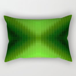 Green PixelS Rectangular Pillow