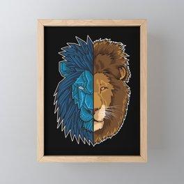 Lion Geometry | King of Jungle | Africa Sahara Framed Mini Art Print