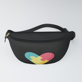 Choose Kind Colorfull Heart graphic Autism Awareness Fanny Pack
