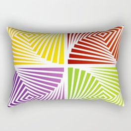 Colorful Squares twirling from the Center. Optical Illusion of PerspectiveColorful Squares twirling Rectangular Pillow