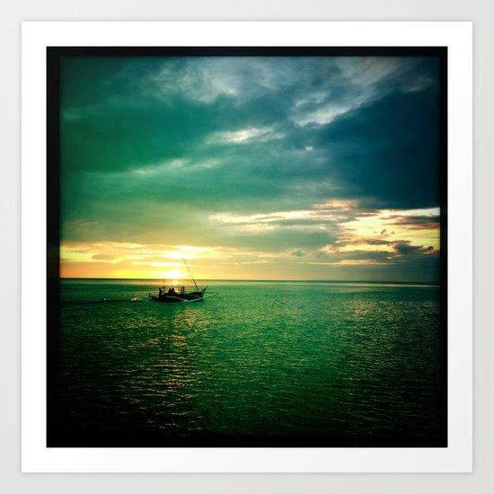 Balayan Bay Sunset Art Print