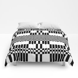 Geometric black and white pattern Comforters