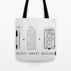 Triple Threat Designer Tote Bag