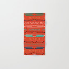 Navajo motifs in red Hand & Bath Towel