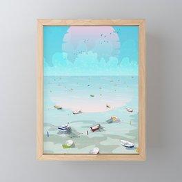 Between two waters Framed Mini Art Print