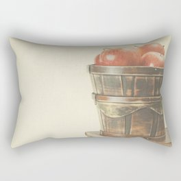 Books and Apples on textured background (Vintage Still Life Photography)  Rectangular Pillow