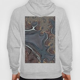 Coffee Swirl - Abstract Fractal Art by Fluid Nature Hoody