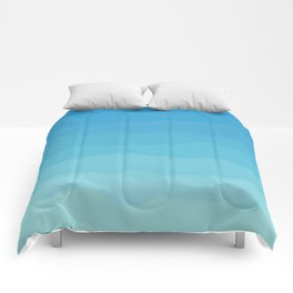 Powder Blue, Periwinkle Lacey Waves Comforters
