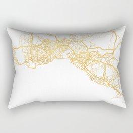 ISTANBUL TURKEY CITY STREET MAP ART Rectangular Pillow