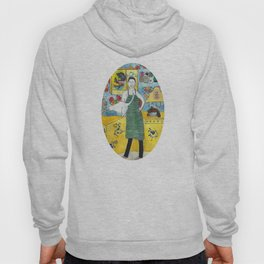 Man with cat in the kitchen Hoody