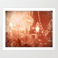 cinnamon chandelier Art Print