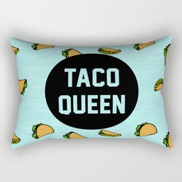 Taco Queen - blue Rectangular Pillow