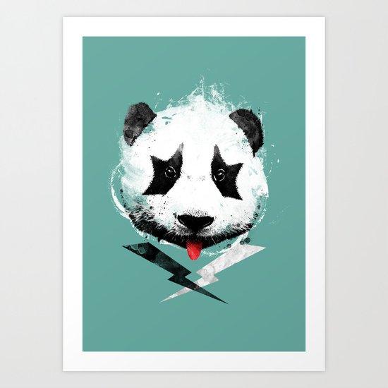 panda rock! Art Print