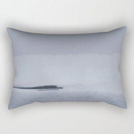 Fog Lake Rectangular Pillow