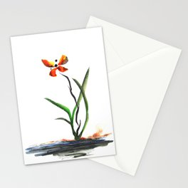 Butterfly Orchid Stationery Cards
