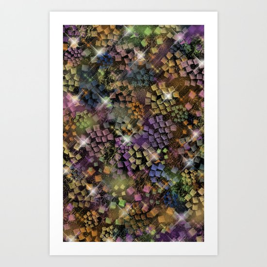 Stained Glass look Series 1 Art Print