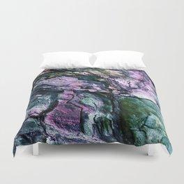 Textured Minerals Teal Green Purple Duvet Cover