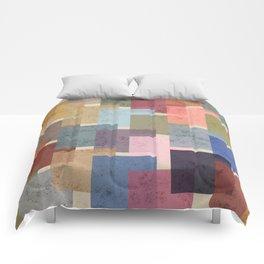 Vintage Colorful Squares Comforters