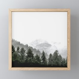 Love Nature, Forest Fog Framed Mini Art Print