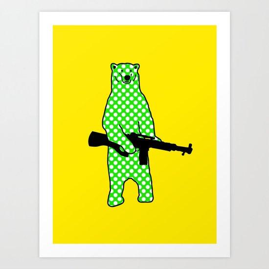 dot bear Art Print