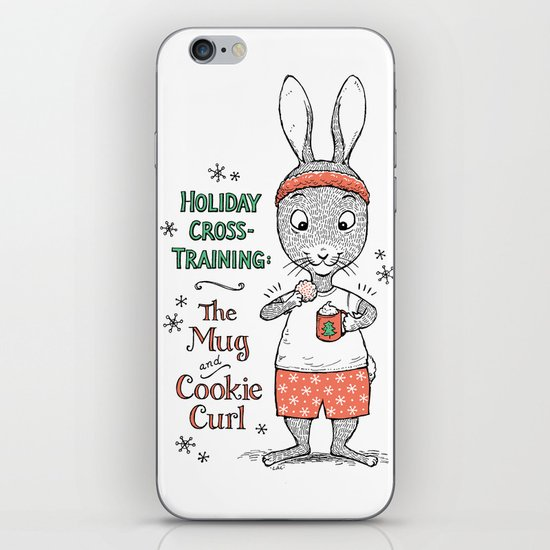 Holiday Curls iPhone & iPod Skin