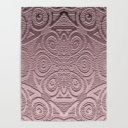 Embossed Rose Gold Geometry Poster