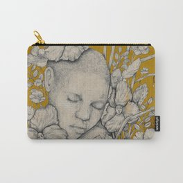 """Guardians"" - Surreal Floral Portrait Illustration Carry-All Pouch"
