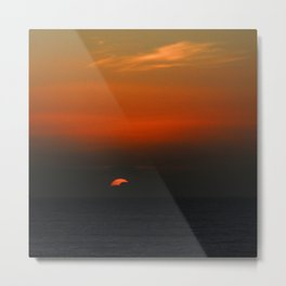 cloudy sunset seascape Metal Print