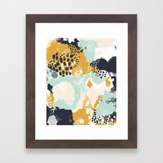Tinsley - Abstract painting in bold, modern, bright colors Framed Art Print