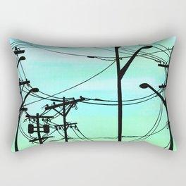 Industrial poles aqua Rectangular Pillow