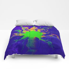 Blacklight Sunset 01 Comforters