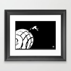 Stuck In a Hard Place | Conecpt Framed Art Print