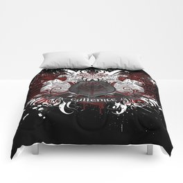 Cullenite Crest (on dark background) Comforters