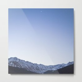 Daylight Moon Ridge Metal Print