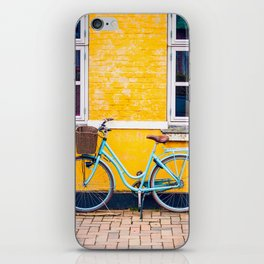 Bike and yellow iPhone Skin