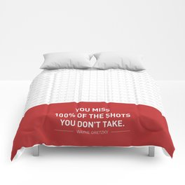 Lab No. 4 - Wayne Gretzky Hockey Player Quotes Poster Comforters
