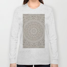 Mandala - Taupe Long Sleeve T-shirt